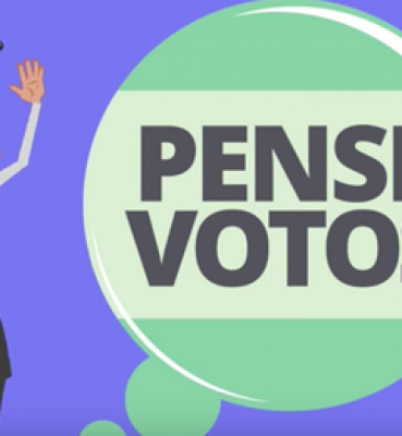 Animação Pense Votos